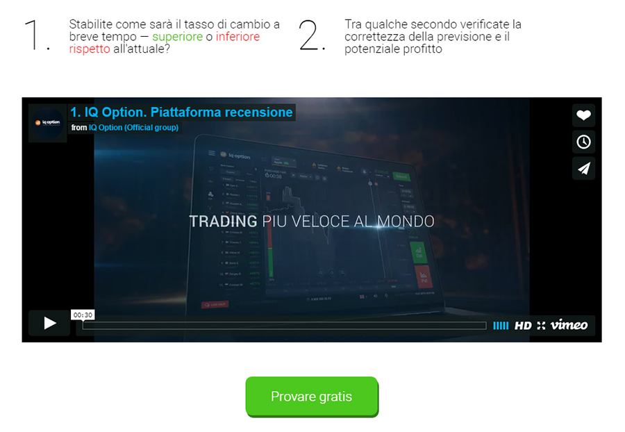 Trading opzioni binarie video